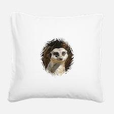 Cute Meerkat.jpg Square Canvas Pillow