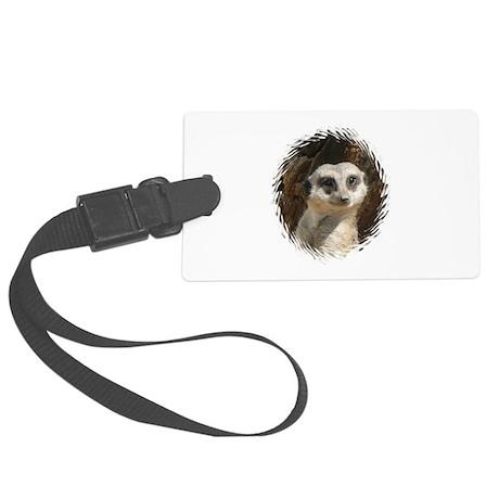 Cute Meerkat.jpg Large Luggage Tag