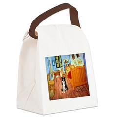 Room with Border Collie Canvas Lunch Bag