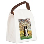 Spring & Border Collie Canvas Lunch Bag