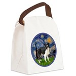 Starry / Border Collie (Z) Canvas Lunch Bag