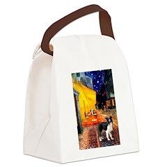 Cafe / Border Collie (Z) Canvas Lunch Bag