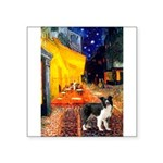 Cafe / Border Collie (Z) Square Sticker 3