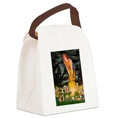 Mid Eve/Border T Canvas Lunch Bag