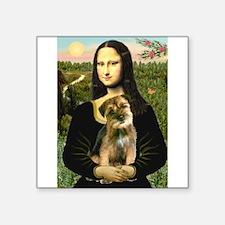 """Mona & Border Terri Square Sticker 3"""" x 3"""""""