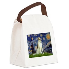 5.5x7.5-Starry-Borzoi1b.png Canvas Lunch Bag