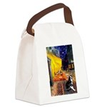 Cafe & Boston Terrie Canvas Lunch Bag