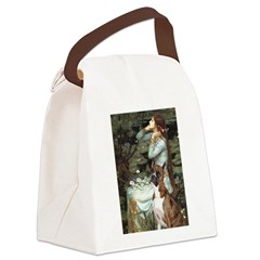 Ophelia & Brindle Boxer Canvas Lunch Bag