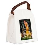 Fairies & Boxer Canvas Lunch Bag