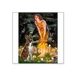 Fairies & Boxer Square Sticker 3