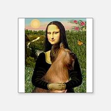 """Mona / Briard Square Sticker 3"""" x 3"""""""