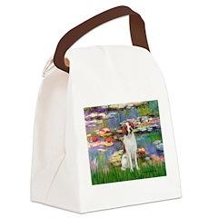 Lilies 2/Brittany Spaniel Canvas Lunch Bag