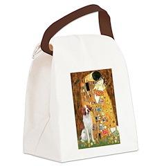 Kiss/Brittany Spaniel Canvas Lunch Bag