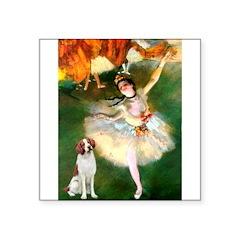 Dancer/Brittany Spaniel Square Sticker 3