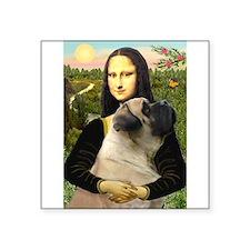 """Mona /Bullmastiff Square Sticker 3"""" x 3"""""""
