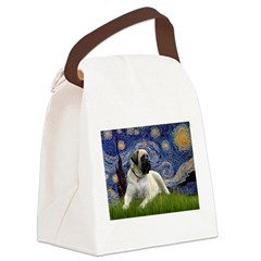 Starry / Bullmastiff Canvas Lunch Bag