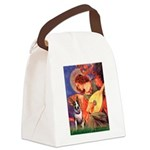 Mandolin Angel / Bull Terrier Canvas Lunch Bag