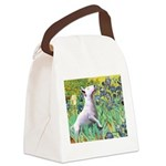 Irises / Bully #3 Canvas Lunch Bag