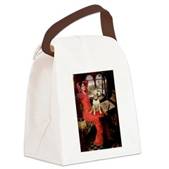 The Lady's Bull Terrier Canvas Lunch Bag