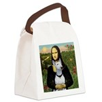 Mona's Bull Terrier Canvas Lunch Bag