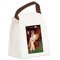 SeatedAngel-BullTerrier (P) Canvas Lunch Bag