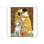 The Kiss & Bull Terrier Square Sticker 3