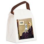 Mom's Bull Terrier (#1) Canvas Lunch Bag