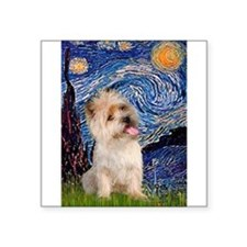 "Starry Night / Cairn Terrier Square Sticker 3"" x 3"