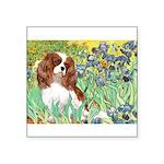 Irises & Cavalier Square Sticker 3