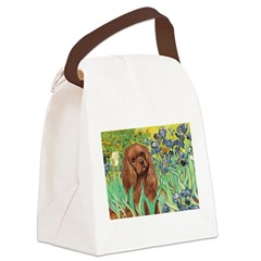 Irises & Ruby Cavalier Canvas Lunch Bag