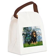 Lilies (1) & Cavalier (BT) Canvas Lunch Bag