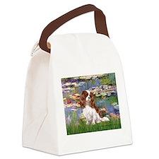 Lilies2 & Cavalier Canvas Lunch Bag