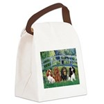 Bridge & 4 Cavaliers Canvas Lunch Bag
