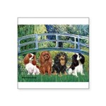 Bridge & 4 Cavaliers Square Sticker 3