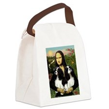 Mona's 2 Cavaliers Canvas Lunch Bag