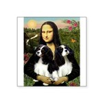 Mona's 2 Cavaliers Square Sticker 3