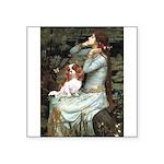 Ophelia & Cavalier Square Sticker 3