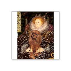 The Queen's Ruby Cavalier Square Sticker 3
