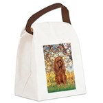 Spring and Ruby Cavalier Canvas Lunch Bag