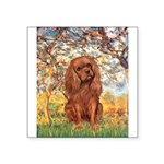 Spring and Ruby Cavalier Square Sticker 3