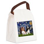 Starry Cavalier Pair Canvas Lunch Bag