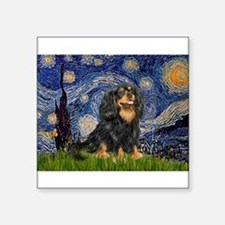 "Starry Night Cavalier Square Sticker 3"" x 3"""