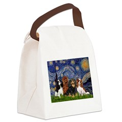 Starry / 4 Cavaliers Canvas Lunch Bag