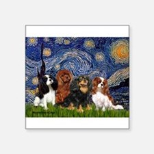 "Starry / 4 Cavaliers Square Sticker 3"" x 3"""