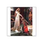 Princess & Cavalier Square Sticker 3