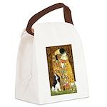 The Kiss & Tri Cavalier Canvas Lunch Bag