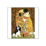 The Kiss & Tri Cavalier Square Sticker 3
