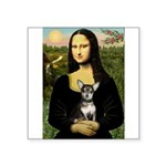 Mona Lisa / Chihuahua Square Sticker 3