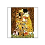 The Kiss & Chihuahua Square Sticker 3