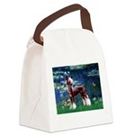Lilies / Chinese Crested Canvas Lunch Bag